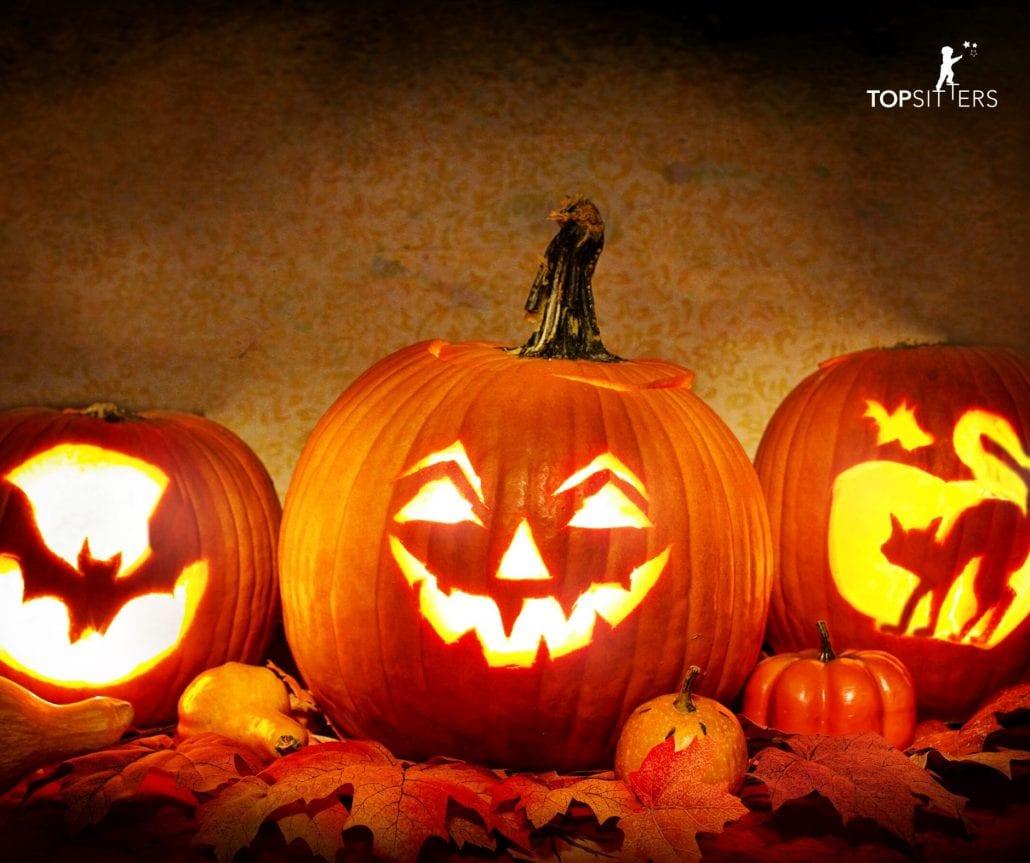 Halloween pumpkin carving fun